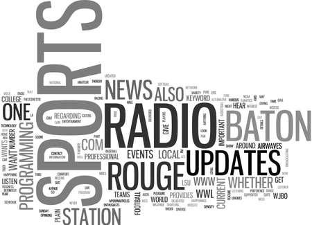 バトン ルージュ スポーツ ラジオ テキスト WORD クラウド コンセプト  イラスト・ベクター素材