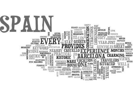 BB IN SPAIN TEXT WORD CLOUD CONCEPT