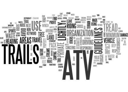 tread: ATV TRAILS TEXT WORD CLOUD CONCEPT