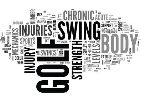 essentially: WHY DO INJURIES OCCUR IN GOLF TEXT WORD CLOUD CONCEPT