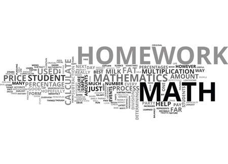 WHY DO MATH HOMEWORK TEXT WORD CLOUD CONCEPT