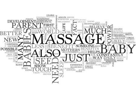 BENEFITS OF A BABY MASSAGE TEXT WORD CLOUD CONCEPT