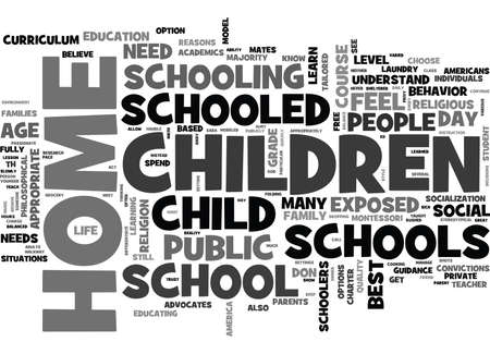 WHY DO PEOPLE HOME SCHOOL THEIR CHILDREN TEXT WORD CLOUD CONCEPT Vectores
