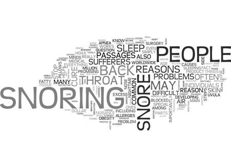 WHY DO PEOPLE SNORE TEXT WORD CLOUD CONCEPT