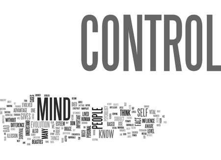 react: WHY DO PEOPLE THINK MIND CONTROL IS BAD TEXT WORD CLOUD CONCEPT Illustration