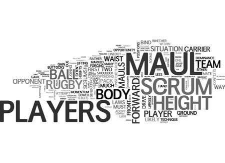 WHY DO RUGBY PLAYERS SCRUM AND MAUL AT SUCH DIFFERENT BODY HEIGHTS TEXT WORD CLOUD CONCEPT