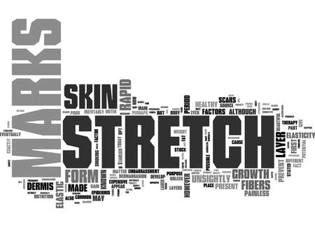 WHY DO STRETCH MARKS FORM TEXT WORD CLOUD CONCEPT