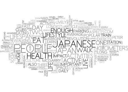 WHY DO THE JAPANESE HAVE THE LONGEST LIFESPAN PART LIVE THE LIFESTYLE TEXT WORD CLOUD CONCEPT