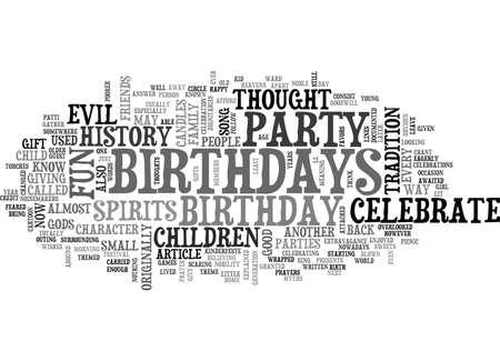 왜 우리는 즐거움 생일날 텍스트 단어 개념을 경축합니까?