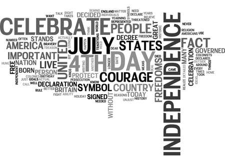 governed: WHY DO WE CELEBRATE THE TH OF JULY TEXT WORD CLOUD CONCEPT