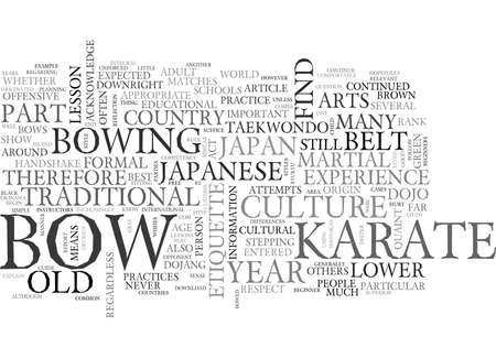 WHY DO WE HAVE TO BOW SO MUCH TEXT WORD CLOUD CONCEPT
