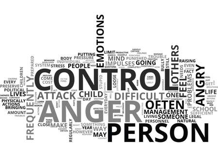 WHY DO WE NEED TO CONTROL ANGER TEXT WORD CLOUD CONCEPT Imagens - 79579564