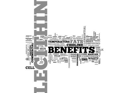 BENEFITS OF LECITHIN TEXT WORD CLOUD CONCEPT