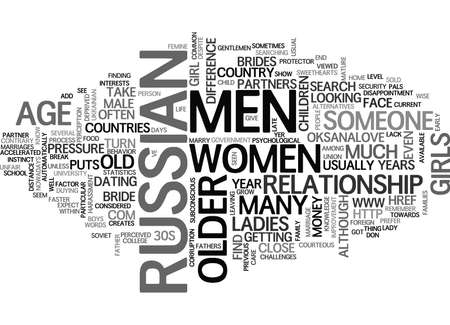 WHY DO WOMEN PREFER MEN MUCH OLDER THAN THEM TEXT WORD CLOUD CONCEPT