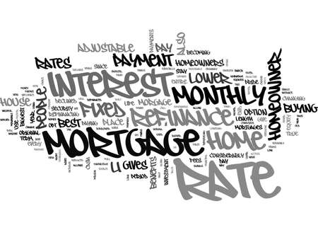 morgage: BENEFITS OF MORTGAGE REFINANCE TEXT WORD CLOUD CONCEPT