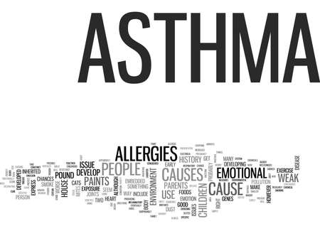 WHY DO YOU HAVE ASTHMA TEXT WORD CLOUD CONCEPT