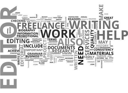 왜 당신은 프리랜서 편집자와 편집 서비스가 필요합니까? 텍스트 개념 클라우드 개념 스톡 콘텐츠 - 79576964
