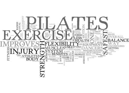 BENEFITS OF PILATES TEXT WORD CLOUD CONCEPT
