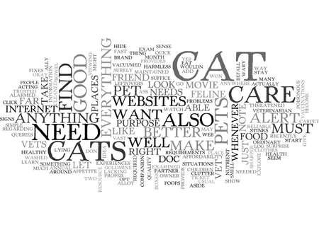 なぜあなたは猫ケア ウェブサイト テキスト WORD クラウドのコンセプトが必要  イラスト・ベクター素材