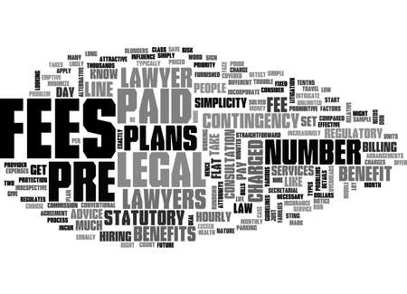 BENEFITS OF PREPAID LEGAL PLANS TEXT WORD CLOUD CONCEPT