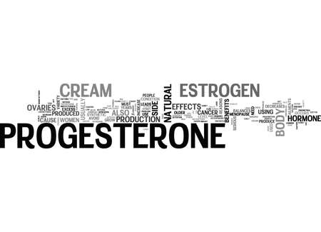 BENEFITS OF PROGESTERONE CREAM TEXT WORD CLOUD CONCEPT