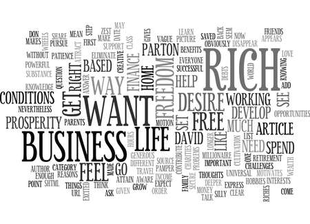 WHY DO YOU WANT TO GET RICH WITH YOUR OWN HOME BASED BUSINESS TEXT WORD CLOUD CONCEPT 向量圖像