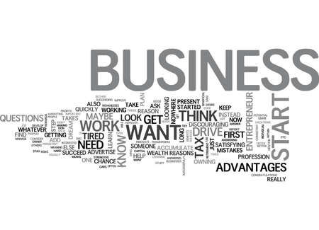 WHY DO YOU WANT TO START A BUSINESS TEXT WORD CLOUD CONCEPT
