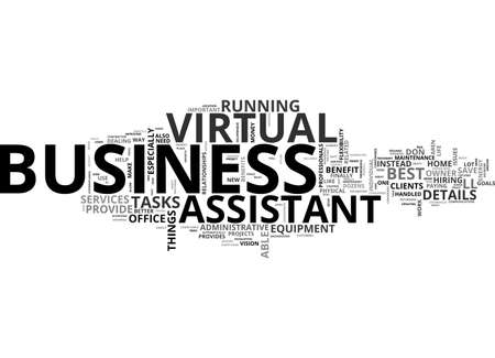 BENEFITS OF VIRTUAL ASSISTANCE TEXT WORD CLOUD CONCEPT