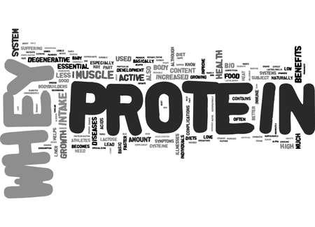 ホエー蛋白質テキスト単語雲概念の利点