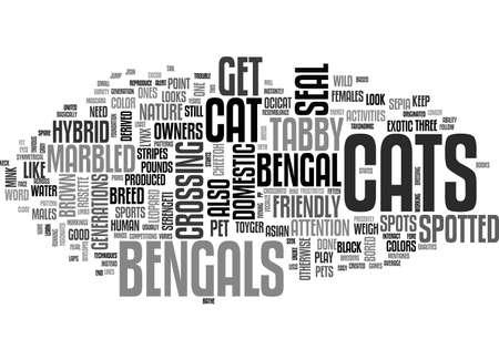 BENGAL CAT TEXT WORD CLOUD CONCEPT