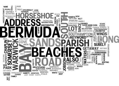 BERMUDA BEACHES TEXT WORD CLOUD CONCEPT Çizim