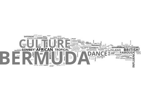 BERMUDA CULTURE TEXT WORD CLOUD CONCEPT