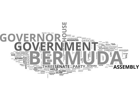 appoints: BERMUDA GOVERNMENT TEXT WORD CLOUD CONCEPT