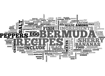 matter: BERMUDA RECIPES TEXT WORD CLOUD CONCEPT