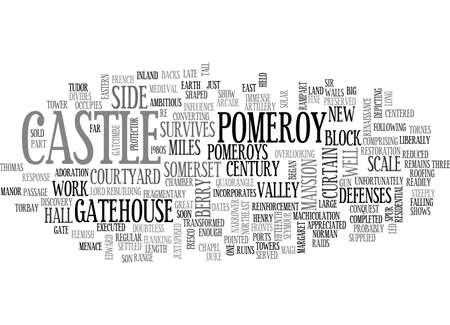 BERRY POMEROY CASTLE TEXT WORD CLOUD CONCEPT