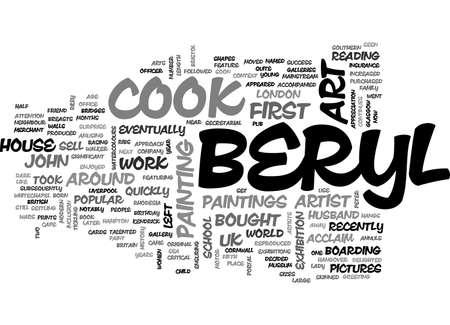 talented: BERYL COOK S ART QUIRKY UK ARTIST TEXT WORD CLOUD CONCEPT