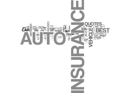 BEST AUTO INSURANCE HOW TO FIND IT THE RIGHT WAY TEXT WORD CLOUD CONCEPT Illustration
