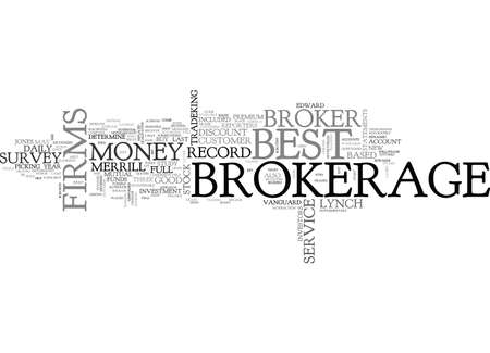 jersey: BEST BROKERAGE FIRMS TEXT WORD CLOUD CONCEPT Illustration