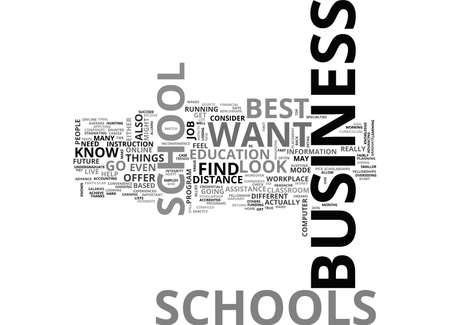 BEST BUSINESS SCHOOLS TEXT WORD CLOUD CONCEPT Illustration