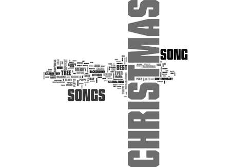 best christmas songs ever text word cloud concept stock vector 79571340 - Best Christmas Songs Ever