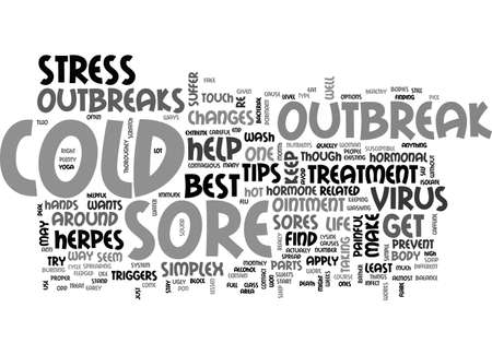 BEST COLD SORE TREATMENT HELPFUL TIPS TEXT WORD CLOUD CONCEPT