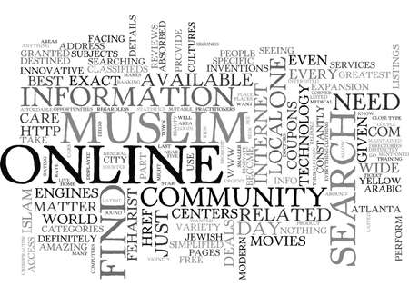 jewish community: BEST DEALS WITH THE MUSLIM ONLINE COMMUNITY TEXT WORD CLOUD CONCEPT
