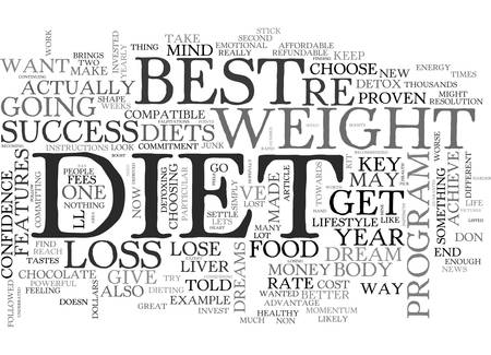 BEST DIET KEY FEATURES YOUR DIET MUST HAVE FOR WEIGHT LOSS SUCCESS TEXT WORD CLOUD CONCEPT