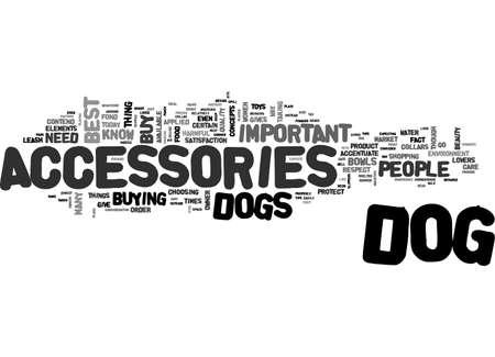 BEST DOG ACCESSORIES TEXT WORD CLOUD CONCEPT Illusztráció