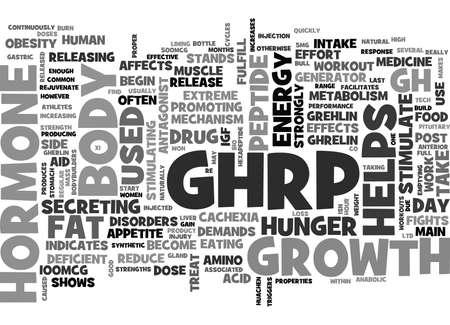 enhances: WHAT IS GHRP TEXT WORD CLOUD CONCEPT