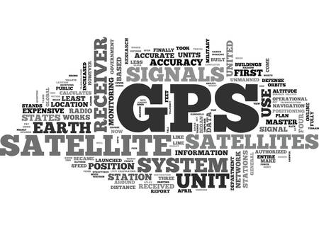 WHAT IS GPS TEXT WORD CLOUD CONCEPT