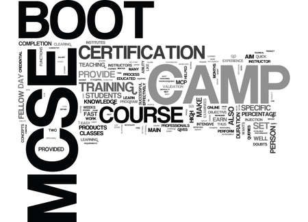 attending: YOUR IN THE ARMY NOW SO WELCOME TO THE MCSE BOOT CAMP TEXT WORD CLOUD CONCEPT Illustration