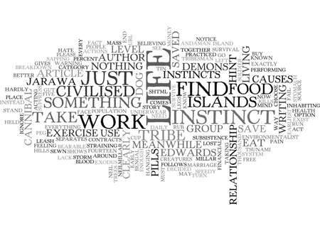 author: YOUR INSTINCT IS YOUR LIFE BLOOD SAYS AUTHOR TEXT WORD CLOUD CONCEPT