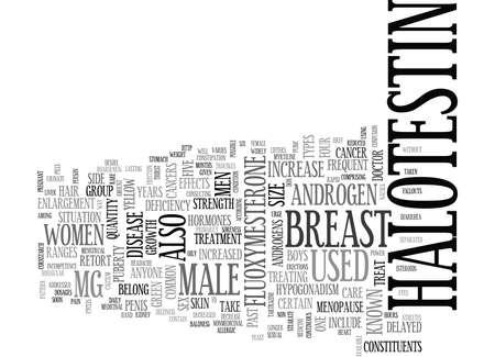 WHAT IS HALOTESTIN TEXT WORD CLOUD CONCEPT Illustration