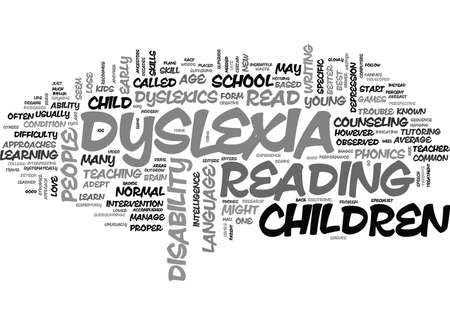 YOUR KIDS MIGHT BE DYSLEXICS READ ON TEXT WORD CLOUD CONCEPT